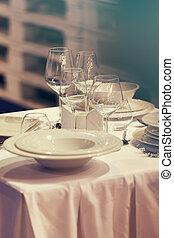 ceramic plates and elegant cups