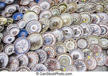 Ceramic plates - Romanian ceramic traditional plates at the...