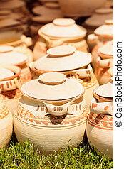 Ceramic pottery at Horezu, Romania