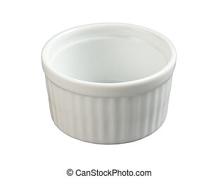 Ceramic Ramekin isolated with clipping path