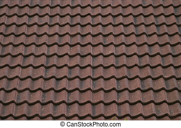 Ceramic Roof Textur - A ceramic roof texture image.