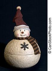 ceramic snow man