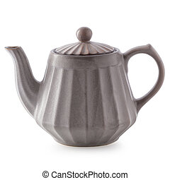 Ceramic Teapot isolated on a white background