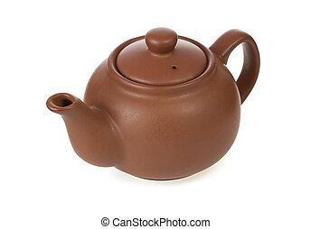 ceramic teapot  isolated on white