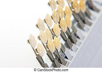 Ceramic teeth color guide