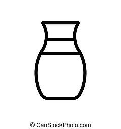 ceramic thin line icon