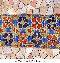 ceramic tile mosaic wall