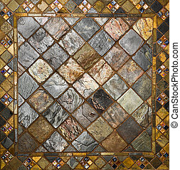 ceramic tile pattern - background of mosaic like unique tile...