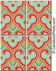 Ceramic tile pattern oriental Chinese curve spiral cross ...