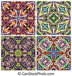 Ceramic Tile Set - Mediterranean style pattern, trendsetting...