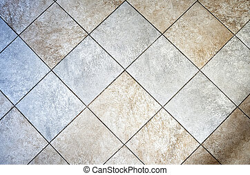 Ceramic rustic tiled floor