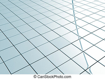 Ceramic tiled floor  - Tiled floor abstract grid