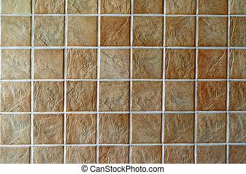 Ceramic tiles. Beige mosaic ceramic tiles for wall or floor.