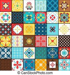 Ceramic tiles in oriental vintage style