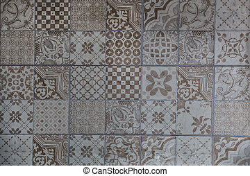 Ceramic tiles with a variety of patterns.