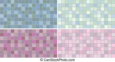 Ceramic tiles with mosaic effect of different colors
