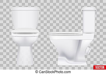 Ceramic toilet classic model set
