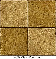 Ceramic two-tone greenish brown stone tiles seamlessly...