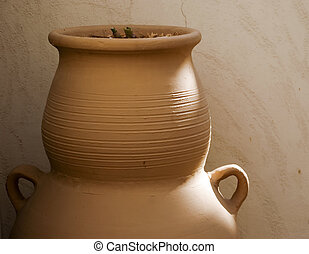 Ceramic vessel from Israel on the place