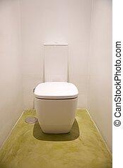 ceramic white watercloset - watercloset in white bathroom...