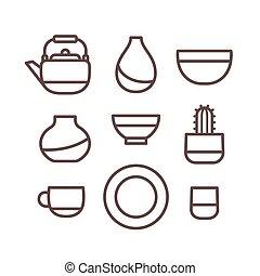 ceramica, ceramica, icone