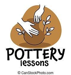 ceramica, classi, vettore, otri, lezioni, fabbricazione