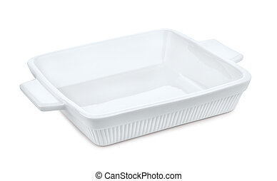 Ceramics baking dish - White empty ceramics baking dish on ...