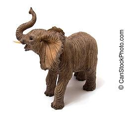 Ceramics elephant isolated on white background