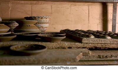 ceramiczny, handmade, stół., wyroby