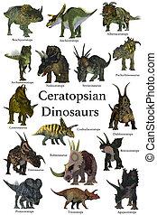 ceratopsian, 恐竜