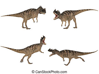 Ceratosaurus Pack - Illustration of a pack of four (4)...