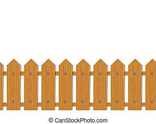 cerca, madeira, padrão, seamless, desenho, seu