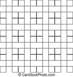 cerca, quadrado, seamless, fundo