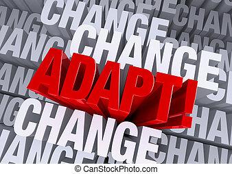 cercado, quando, adaptar, mudança