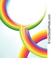cerchi, arcobaleno, astratto, tessiture, colorito