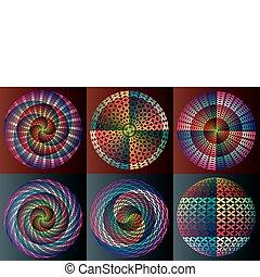 cerchi, arcobaleno, variopinto