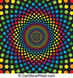 cerchi, arcobaleno