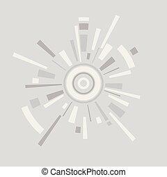 cerchi, astratto, linee, vettore, fondo, cerchio