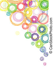 cerchi, astratto, sfondo colorato