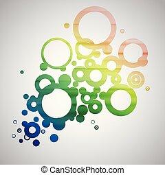 cerchi, astratto, vettore, colorito
