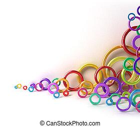 cerchi, baluginante, colorito