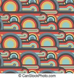 cerchi, colorito, modello, astratto, linee, seamless, tessile