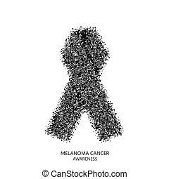 cerchi, desigen, melanoma, cancro, moderno, vettore, consapevolezza