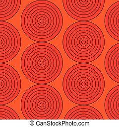 cerchi, grafico, pattern., seamless, illustrazione, vettore