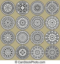 cerchi, ornamentale, decors