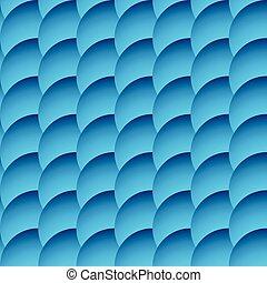 cerchi, seamless, ricoprendo, fondo., circles., modello, monocromatico, ombreggiato
