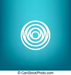 cerchi, stile, lineare, semplice, moderno, acqua, forma, vettore, minimalistic, ondulazione, logotipo, concentrico, rotondo