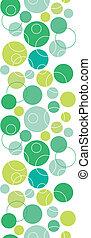 cerchi, verticale, modello, astratto, seamless, sfondo verde, bordo