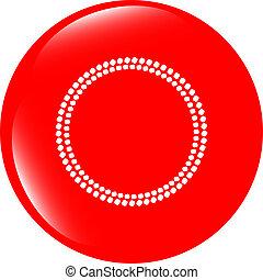 cerchi, web, astratto, lucido, bottoni