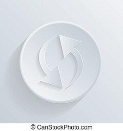 cerchio, aggiornamento, icona